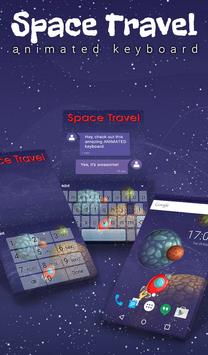 Space Travel Animated Keyboard poster