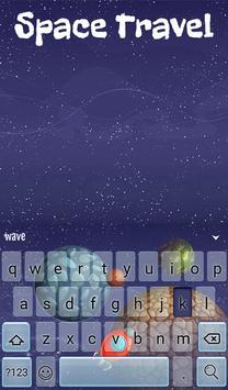 Space Travel Animated Keyboard screenshot 1
