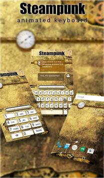 Steampunk Animated Keyboard poster