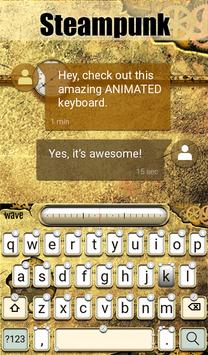 Steampunk Animated Keyboard apk screenshot