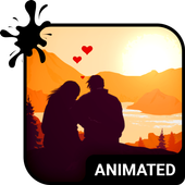 Sunset Love Animated Keyboard + Live Wallpaper icon