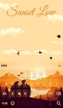 Sunset Love Animated Keyboard + Live Wallpaper screenshot 1
