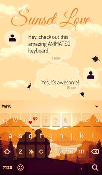 Sunset Love Animated Keyboard + Live Wallpaper screenshot 2