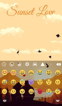 Sunset Love Animated Keyboard + Live Wallpaper screenshot 3