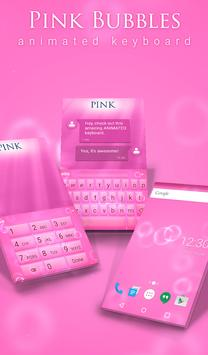 Pink Bubbles Animated Keyboard poster