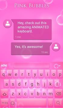 Pink Bubbles Animated Keyboard apk screenshot