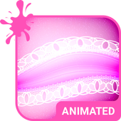 Pink Lace Animated Keyboard icon