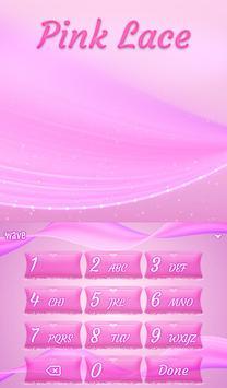 Pink Lace Animated Keyboard apk screenshot