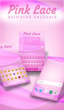Pink Lace Animated Keyboard poster