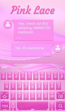 Pink Lace Animated Keyboard screenshot 2