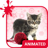 Pretty Cat Animated Keyboard icon