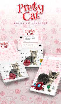 Pretty Cat Animated Keyboard poster