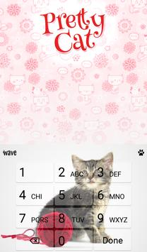 Pretty Cat Animated Keyboard apk screenshot