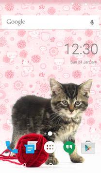 Pretty Cat Animated Keyboard apk screenshot