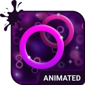 Purple Rings Animated Keyboard icon