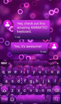 Purple Rings Animated Keyboard apk screenshot
