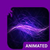 Purple Waves Animated Keyboard icon