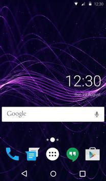 Purple Waves Animated Keyboard apk screenshot