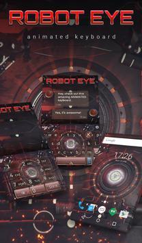 Robot Eye Animated Keyboard poster