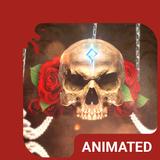 Rose Skull Animated Keyboard + Live Wallpaper