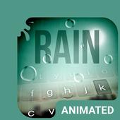 Rain Drops Animated Keyboard icon
