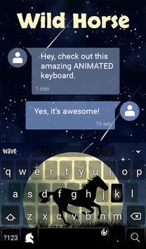 Wild Horse Animated Keyboard apk screenshot