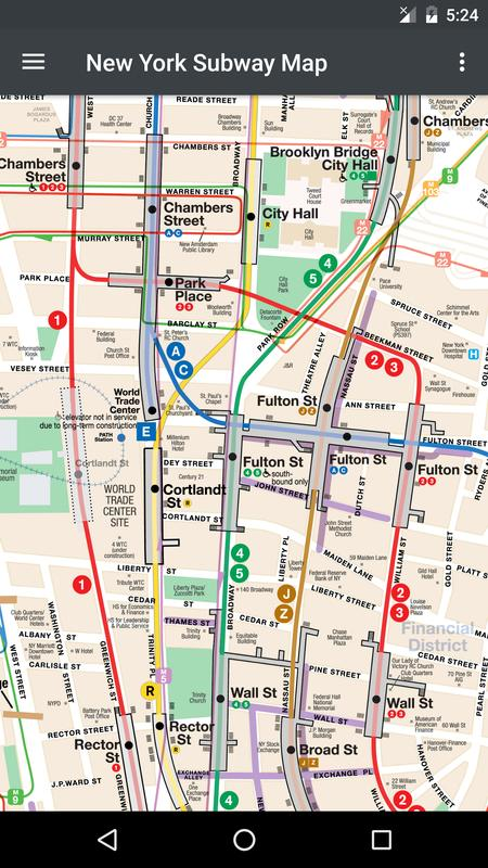 new york subway map android