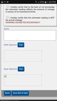 Auto Bill of Sale screenshot 5