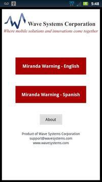 Miranda Warnings / Rights poster