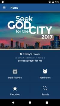 Seek God For The City 2017 poster