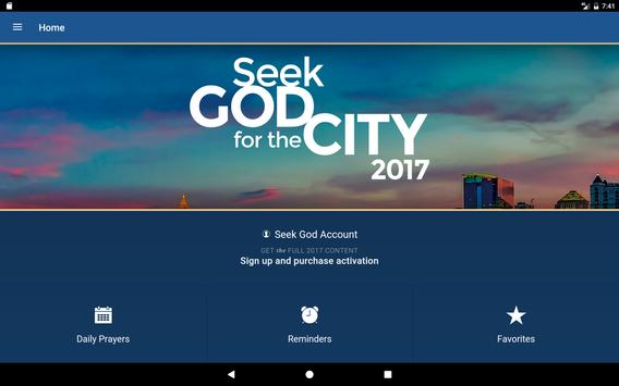 Seek God For The City 2017 apk screenshot