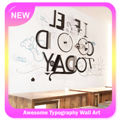 Awesome Typography Wall Art icon