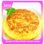 Simple Tortilla Potato Omelet recipe icon