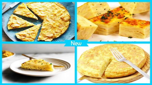 Simple Tortilla Potato Omelet recipe screenshot 3