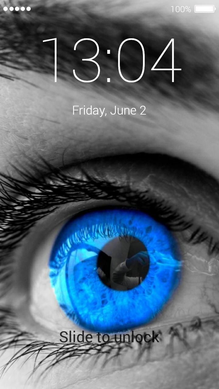 Eye lock screen