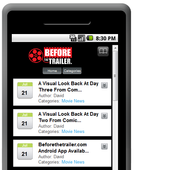Beforethetrailerer.com App icon