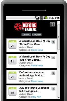 Beforethetrailerer.com App poster