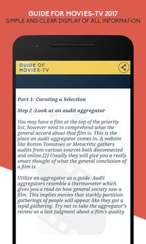 Guide for Movies 2017 screenshot 1
