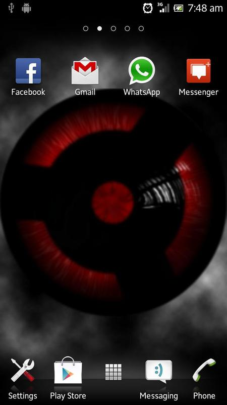 ... Sharingan Live Wallpaper screenshot 4 ...