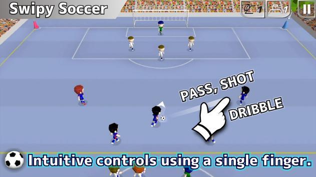 Swipy Soccer capture d'écran 1