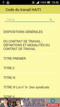 Code du travail de Haïti poster