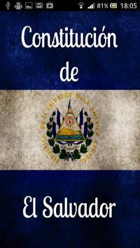 Constitución de El Salvador poster