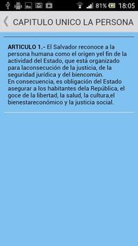 Constitución de El Salvador apk screenshot