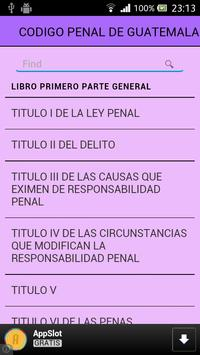 Código Penal de Guatemala apk screenshot