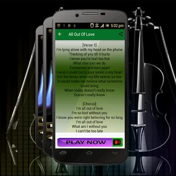 Best Songs Air Supply All Out Of Love apk screenshot