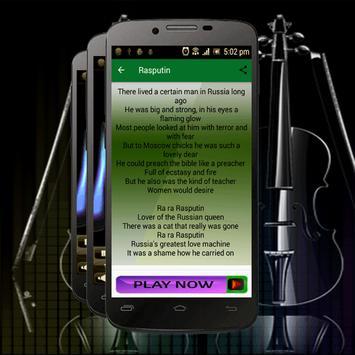 Best Songs Boney M Rasputin apk screenshot