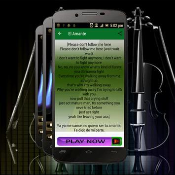 Canciones Mix Nicky Jam-Song El Amante apk screenshot