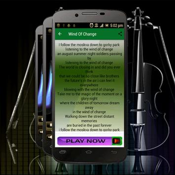 Songs Scorpions Wind Of Change apk screenshot