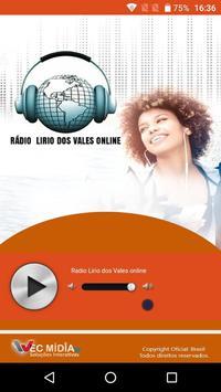 Rádio Lirio dos vales Web screenshot 1