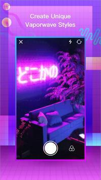 VaporCam-Glitch, Estetika, Vaporwave Foto Editor poster